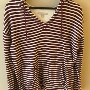 Banana Republic striped v-neck sweatshirt